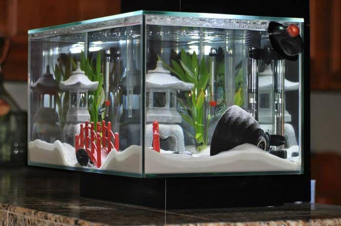 Asian themed fish tanks
