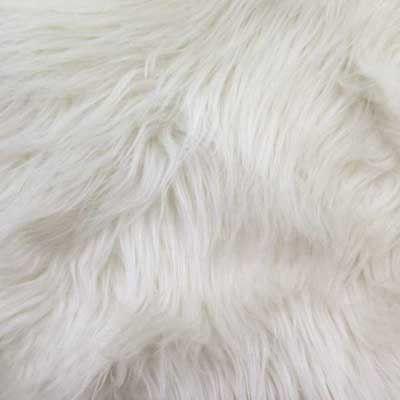 White Long Pile Shaggy Faux Fur Fabric Faux Fur Fabric Fur Fabrics White Fabric Texture