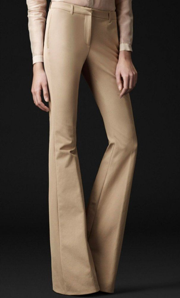 Egizia Mid Rise Bell Bottom Trousers,  $196.00