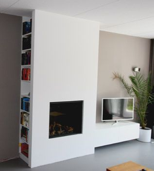 gashaard met koof voor boekenkast en zwevend tv meubel fireplace tv wall basement fireplace