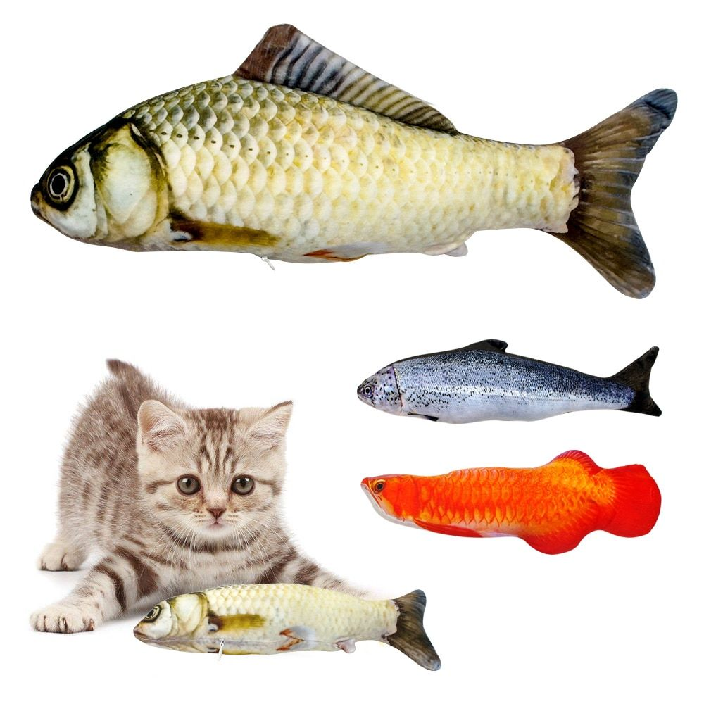Cat S Catnip Fish Toy Interactive Cat Toys Kitten Toys Best Interactive Cat Toys
