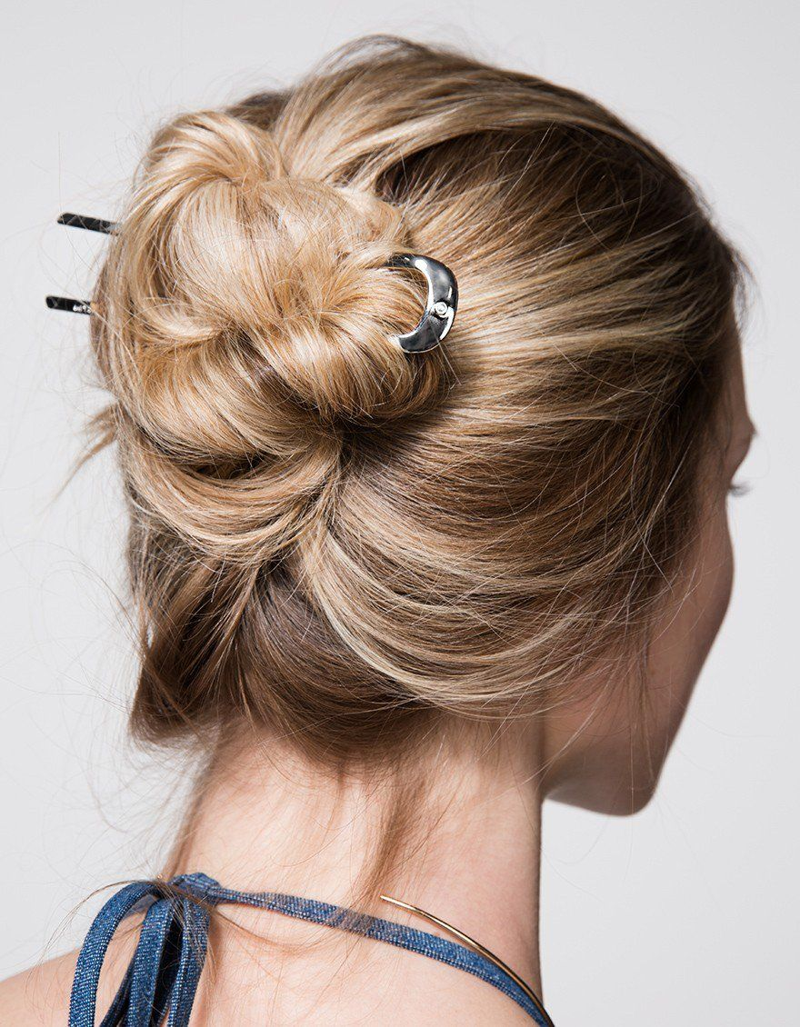 Epingle 014 Hair Pin | Bun hairstyles for long hair, Easy