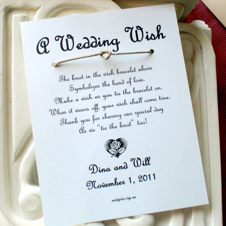 Heart Shape Love Knot A Wedding Wish Bracelet By Madebydina 195