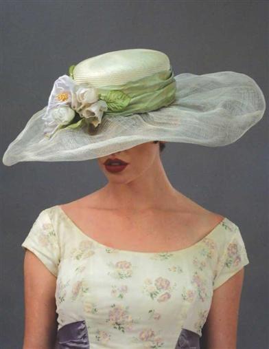 354c0b4e Ladies Tea Party Hats- Edwardian Hats Louise Green Garden Society Hat  $299.95