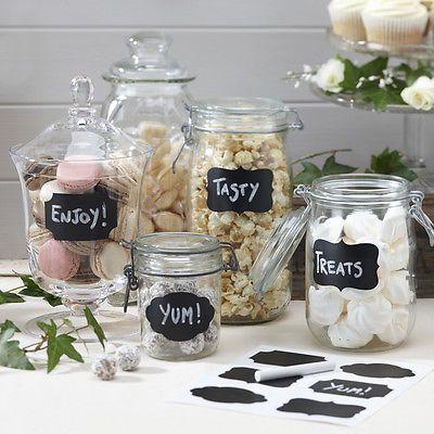 Details About Vintage Wedding Sweet Jar Labels 12 Chalkboard Stickers Chalk For Candy Jars Diy Wedding Favors Diy Wedding Favors Cheap Chalkboard Stickers