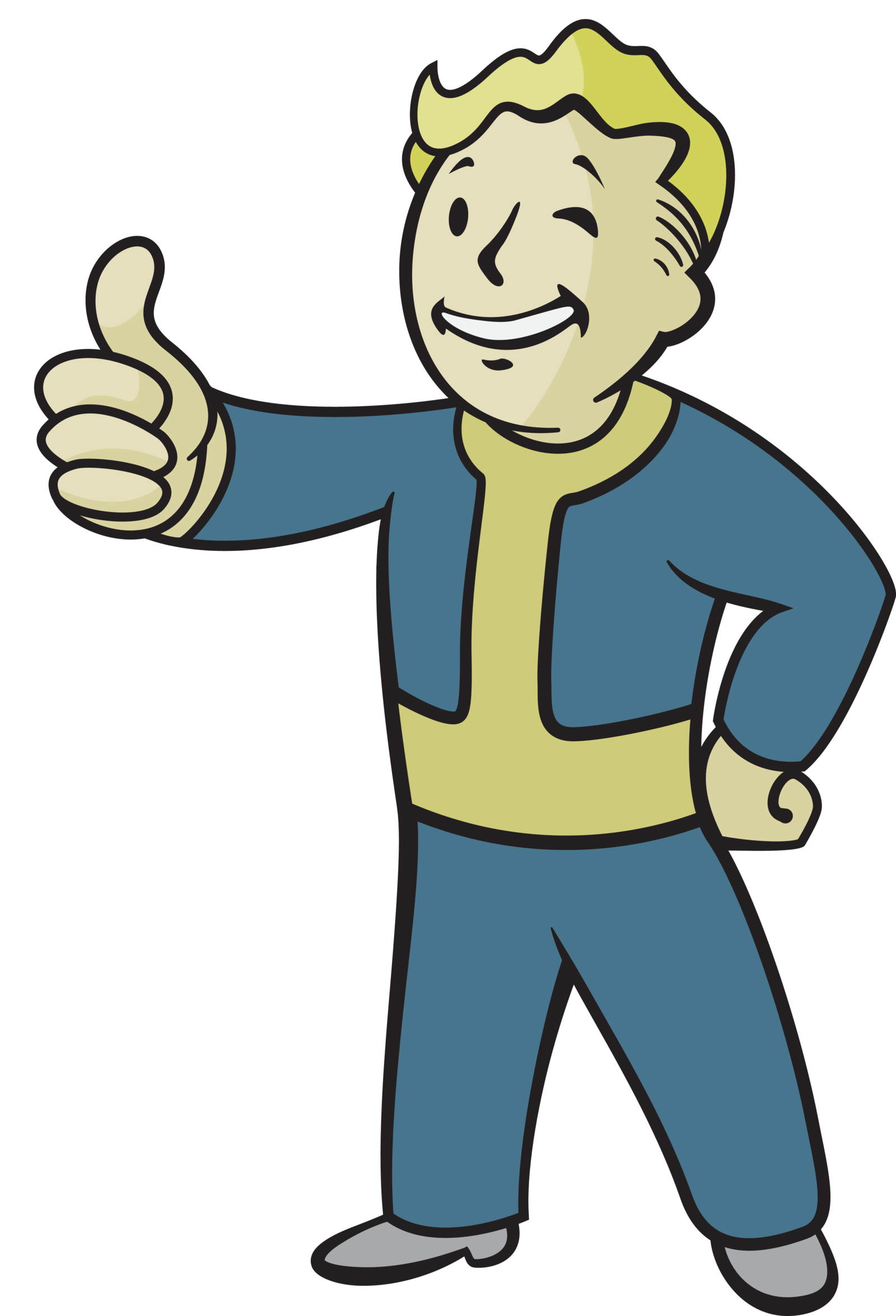 Fallout 4 Character Design Tips : Vault boy vector by goblinengineer viantart on