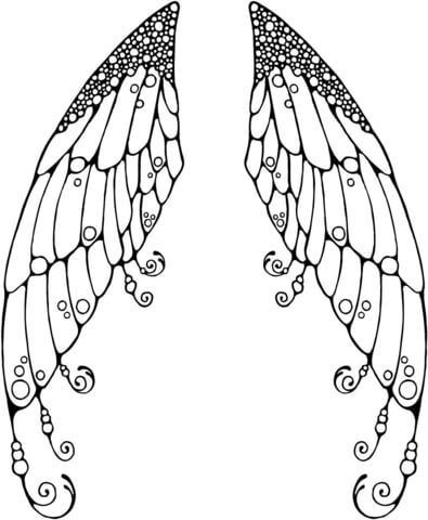 Double Fairy Wings Coloring Page For The Top Adult Books And Writing