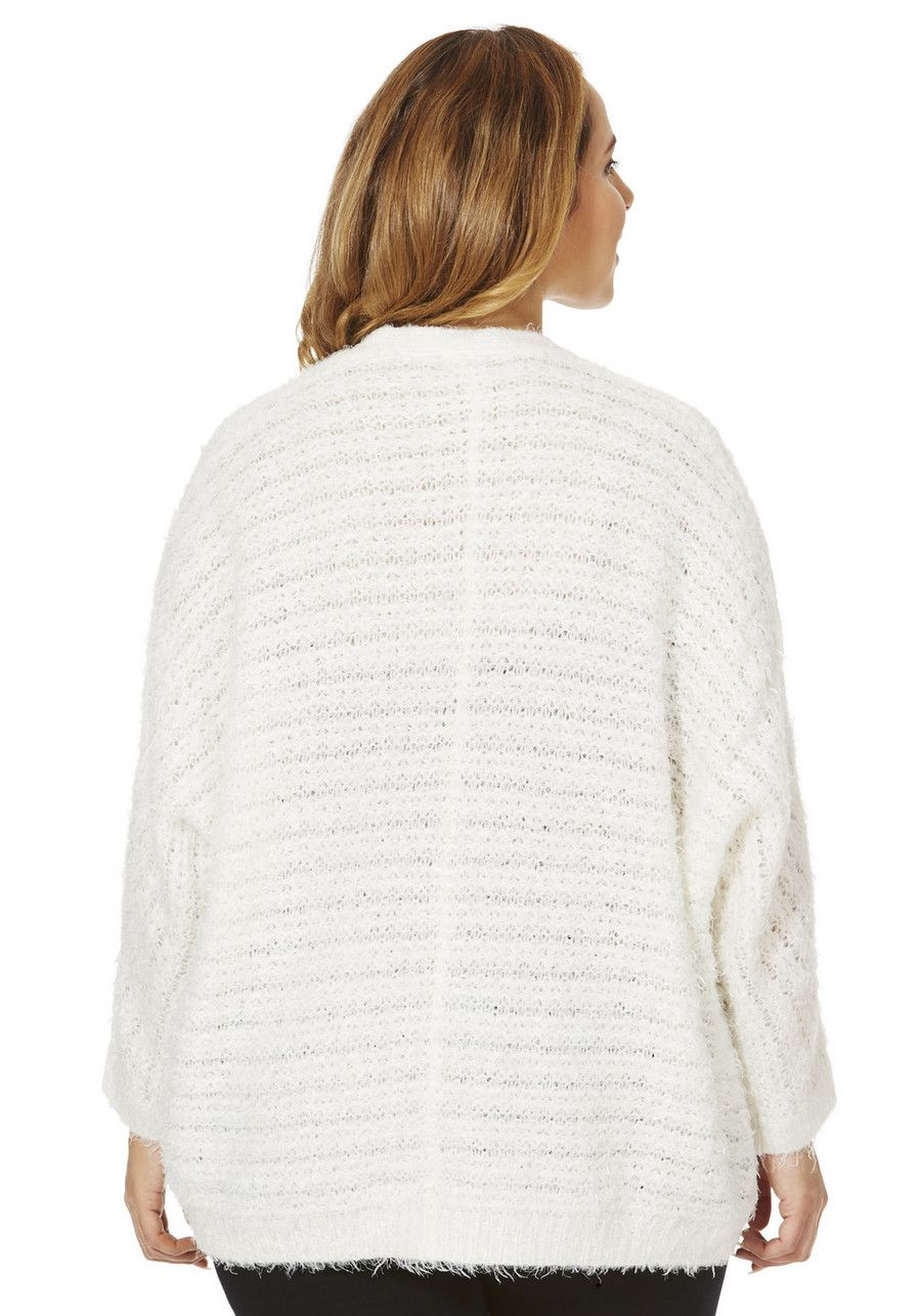 Clothing at Tesco | F&F True Textured Oversized Plus Size Cardigan ...