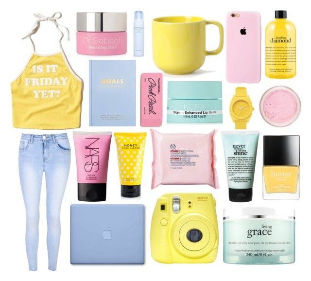 """""""She works the nights, by the water"""" by slowly-sinking-xxx ❤ liked on Polyvore featuring Hollister Co., Glamorous, philosophy, Dr. Sebagh, NARS Cosmetics, kikki.K, Fuji, The Body Shop, Marc Jacobs and Butter London"""