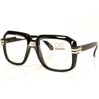 a56cffa353a8 YES yes ya l...too the beat ya l LOL!! Run DMC Rapper Retro Large Clear  Lens Eye Glasses Black  5.52