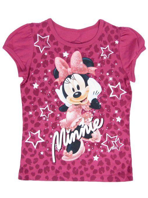 e21f031cbf0 Amazon.com  Disney Minnie Mouse Girls T-Shirt Leopard Animal Print Glitter  Tee (4)  Clothing