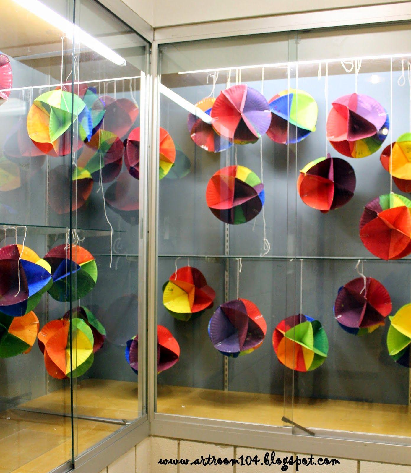 5th Grade 3 D Color Wheel Display