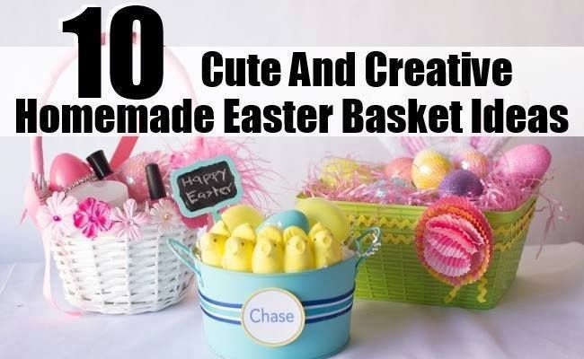 10 cute and creative homemade easter basket ideas gift ideas 10 cute and creative homemade easter basket ideas negle Gallery