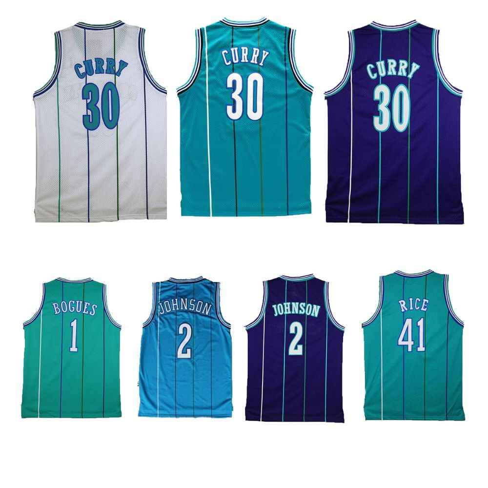 on sale 534a6 c183d Aliexpress.com : Buy Charlotte #30 Dell Curry #2 Larry ...