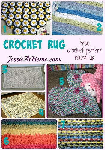 Rug Round Up | Jessie, Free crochet and Crochet