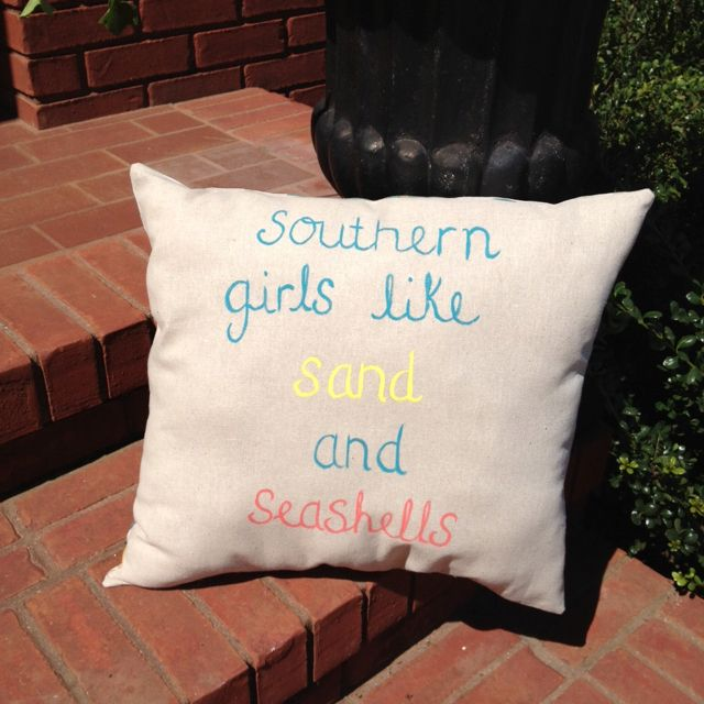 Adorable southern girls hand painted pillow www.etsy.com/shop/pearlybirddesigns