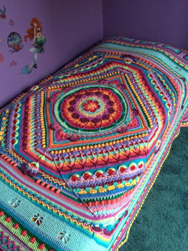 Mandala Afghan Crochet Pinterest Häkeln Häkeln Ideen And
