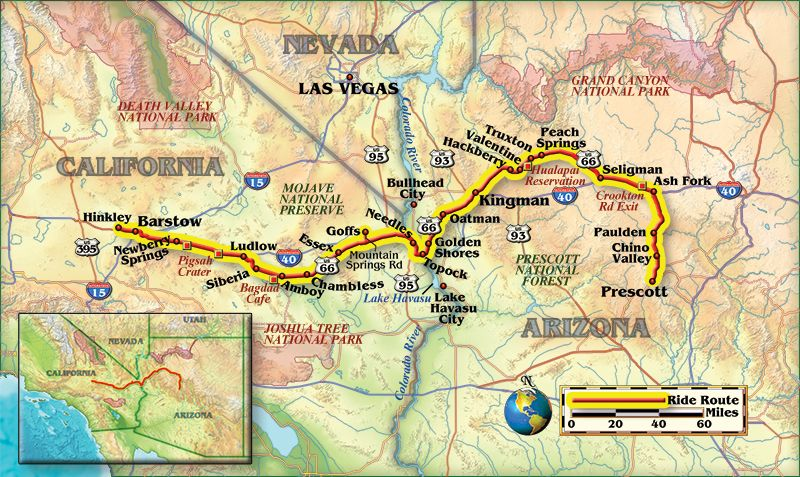 Riding Old US 66 from Seligman Arizona to Barstow California