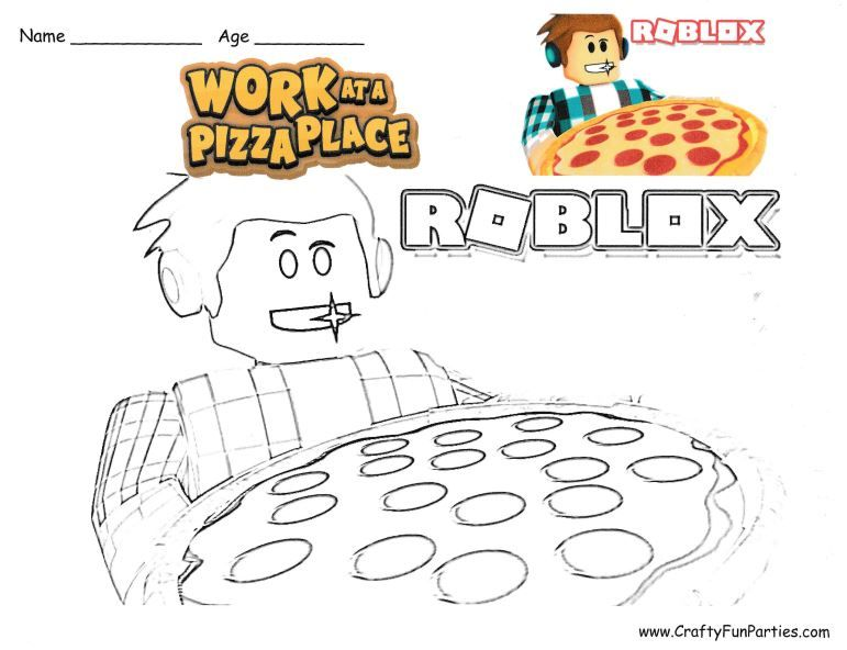 Roblox Work At A Pizza Place Coloring Page Coloring Pages Roblox Best Part Of Me