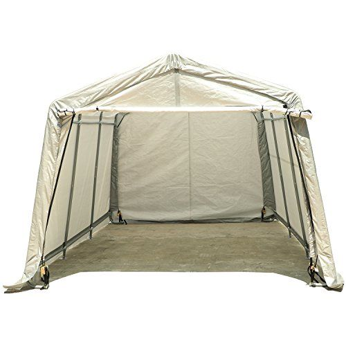 Carports Uhom 10x15x8ft Outdoor Tent Instant Garage Auto Storage Shed Shelter Steel Canopy Carport Gray To Instant Garage Carport Outdoor Tent