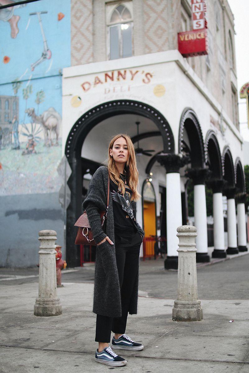 Outfit  Tuxedo pants   vintage shirt in Venice. Desi is wearing tuxedo  pants from Zara 79e603d5c