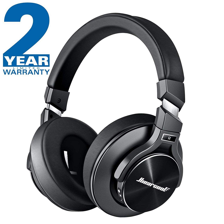 825443c4709 Amazon.com  Active Noise Cancelling Headphones Hiearcool L2 Bluetooth  Headphones Microphone Hi-Fi Stereo Bass Wireless Headphones Over Ear