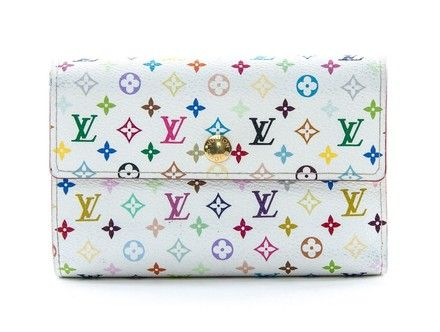 af04037eaa63 Free shipping and guaranteed authenticity on Louis Vuitton White Multicolor  Alexandra WalletThis is an authentic LOUIS VUITTON Multicolor Alex.