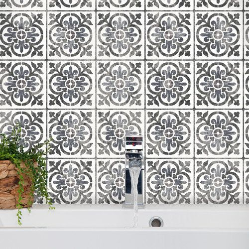 Valencia Tile Stencil Mediterranean Spanish Moorish Wall Furniture Floor Craft Va001