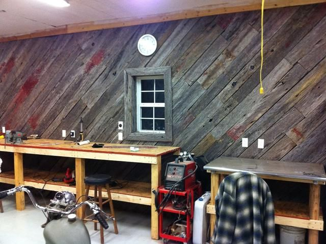 Reclaimed Wood Wall   The Garage Journal Board