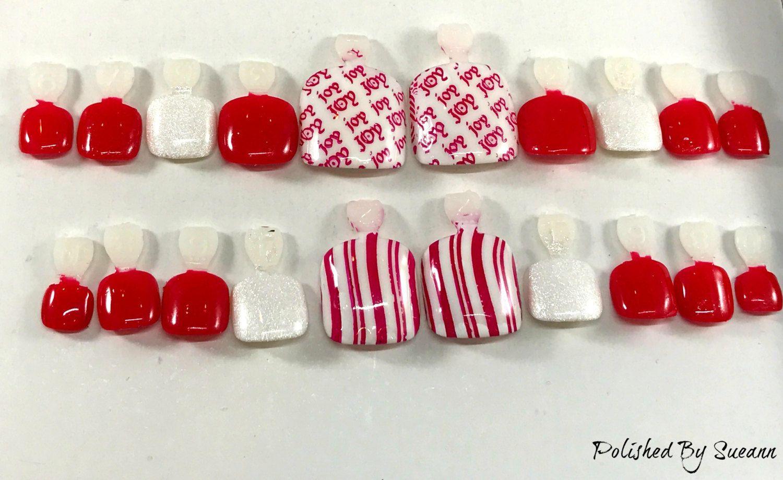 Holiday Toe Nail Design Artificial Nails Square Nails Gel Nails
