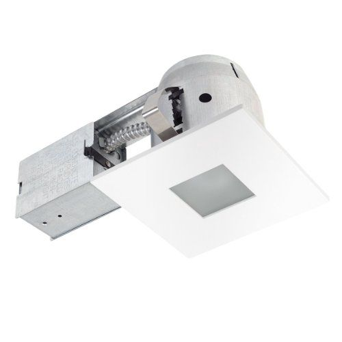 4 inch recessed lighting kitchen globe electric 90653 inch recessed lighting kit bathroom square matte white finish with frosted glass spot light
