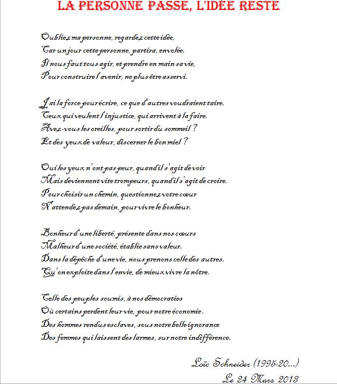 29 La Personne Passe Lidée Reste Poesie Poeme Poeme
