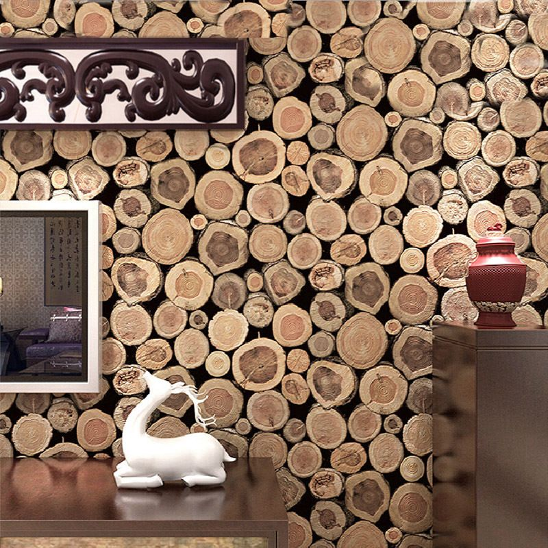 Cheap grueso estupendo 3d wood log textura en relieve pvc - Papel pared salon ...