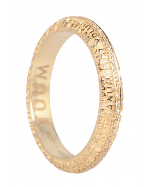Anello #Tumm Fede Aeterna Oro Giallo 18 KT e Diamanti Girodito FESAL0700G #ororagioiellerie