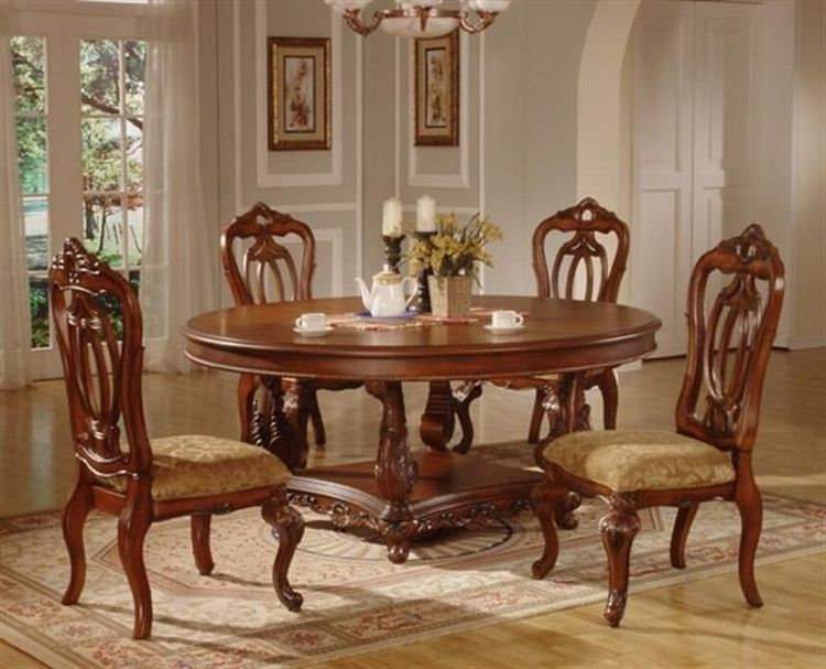 elegance design 72 round dining table | awesome wood dining table with exquisite carvings | Wooden ...