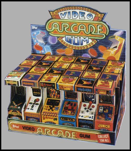 """Video Arcade Gum    """"Released in the mid-1980′s, Topps Video Arcade Gum are the earliest examples of a candy container designed to look like a piece of gaming hardware."""""""