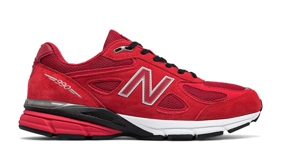 New Balance 990v4, Red with Black