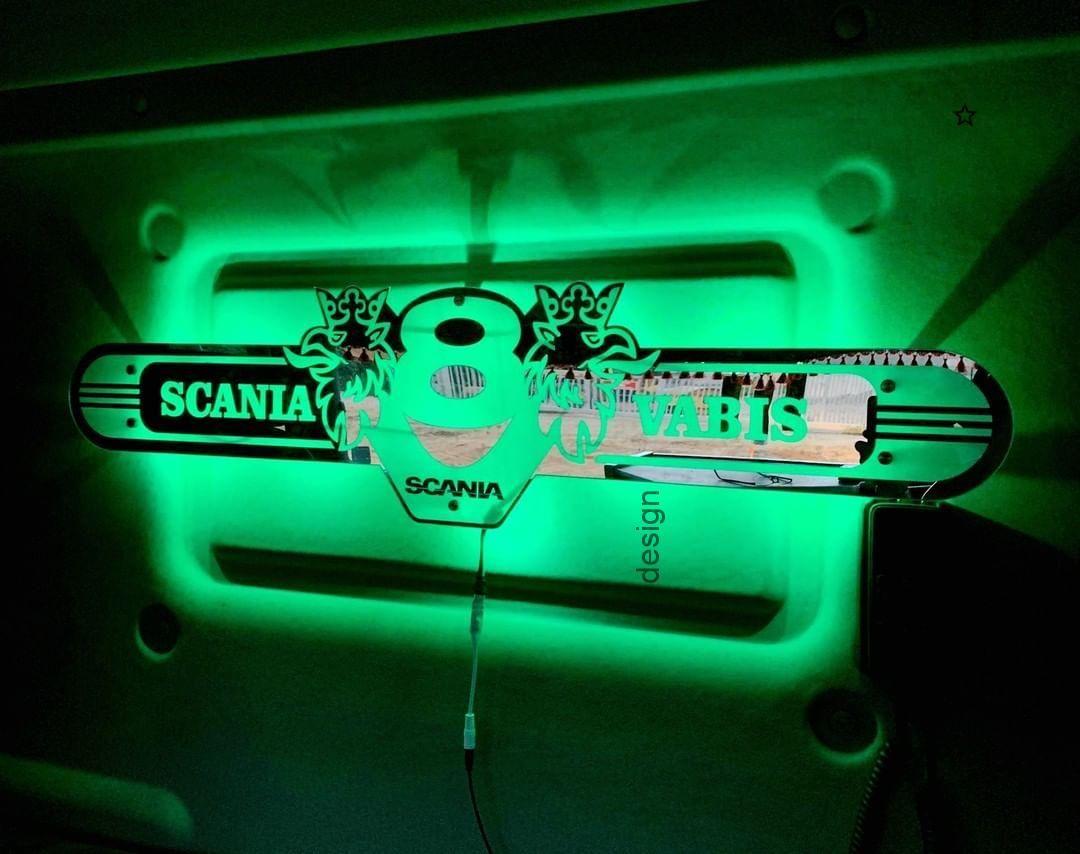 Scania 100x25cm Led Spiegel Ruckschild Lkw Beleuchtung Grun Truck Tun 100x25cm Beleuchtung Camion Grun Kronleuchter Neon Signs Design Neon