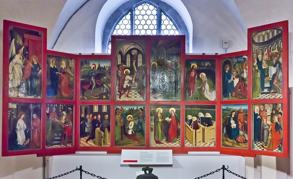 Nordlingen Stadtmuseum Flugel Des Hochaltars Aus St Georg Friedrich Herlin 1462 Duccio Di Buoninsegna Art Painting
