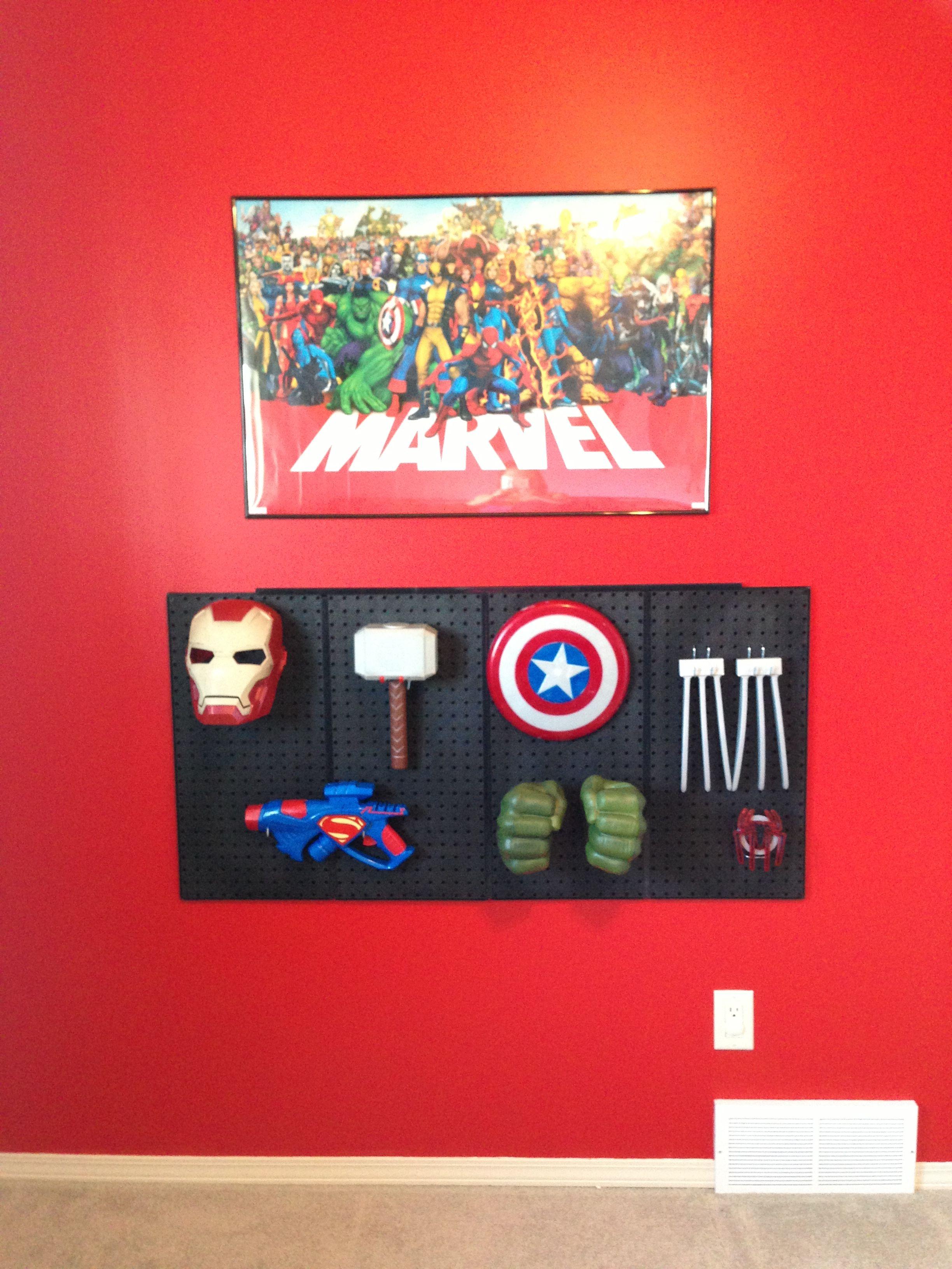 Superhero/Avengers Bedroom  Superhero room, Superhero room decor