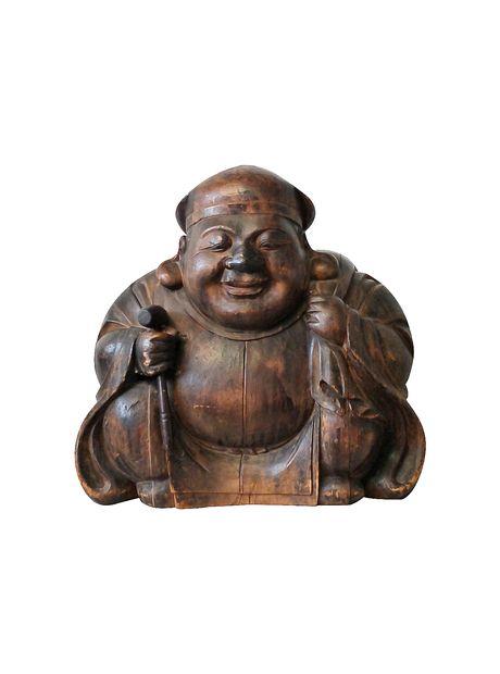 Japanese 18th Century Edo Period Statue of Daikoku