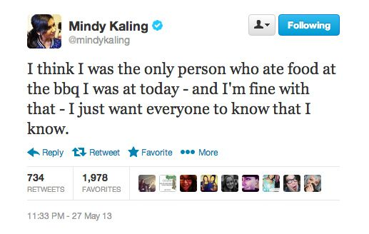 When you're *that* person at the event: | 23 Times Mindy Kaling Perfectly Captured Your Angst