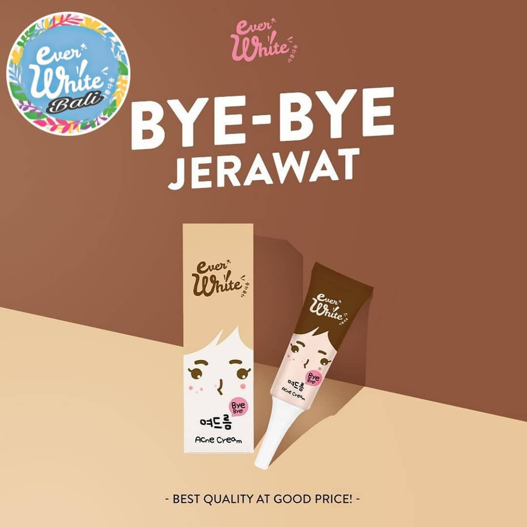 Everwhite Acne Cream (Jerawat) Menghilangkan jerawat Cepat ...