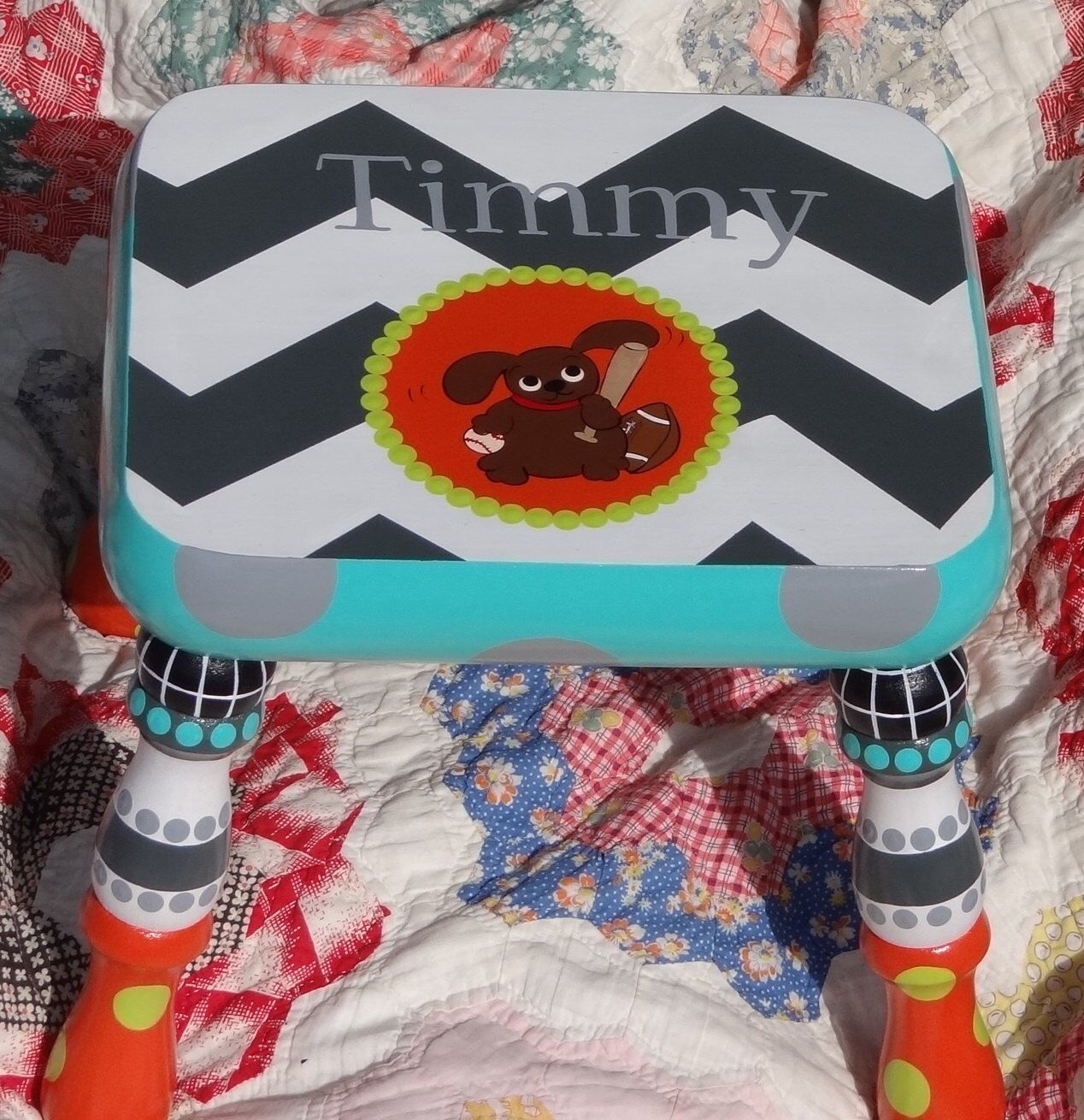 Personalized Kid's Foot Stool, Step Stool For Boys, Personlaized Nursery Decor, Kids Bathroom Stool, Child's Stool by elliesshop on Etsy https://www.etsy.com/listing/191669947/personalized-kids-foot-stool-step-stool