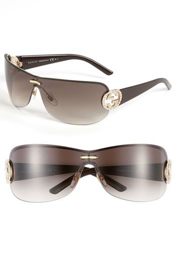 d1b550ad7de Gucci Rimless Shield Sunglasses available at Nordstrom