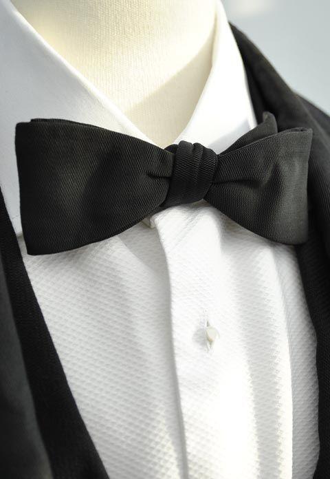 0bf1c0d9c05c Men's Vintage Bow Tie, Black Crossgrain Clip On Tie Men's Vintage Black  Crossgrain Faille Clip-On Formal Evening Dress Bowtie Neck Tie