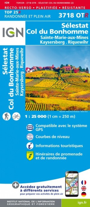3718otr Colmar Kaysersberg Club Vosgien Resistante Carte En 2021 Carte Randonnee Information Touristique Carte Ign