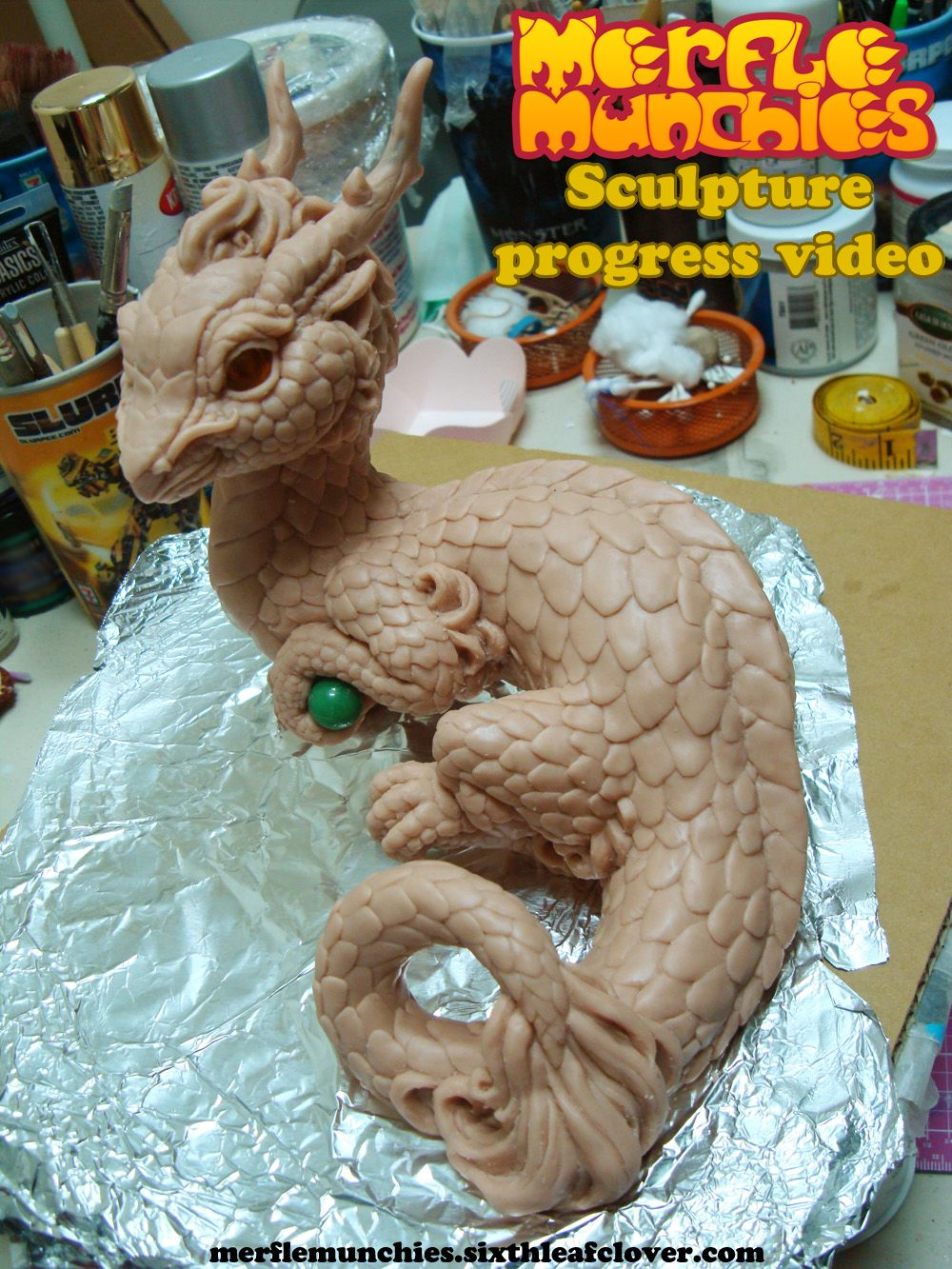 Eastern Dragon Sculpture Video Wip By Thesixthleafcloveriantart How To Draw  Dragon Design