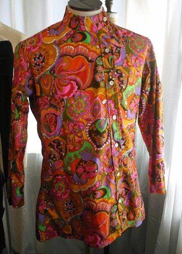 249fc95327 Vintage Off The Wall NY Mens Psychedelic Shirt Jacket 60s | eBay ...