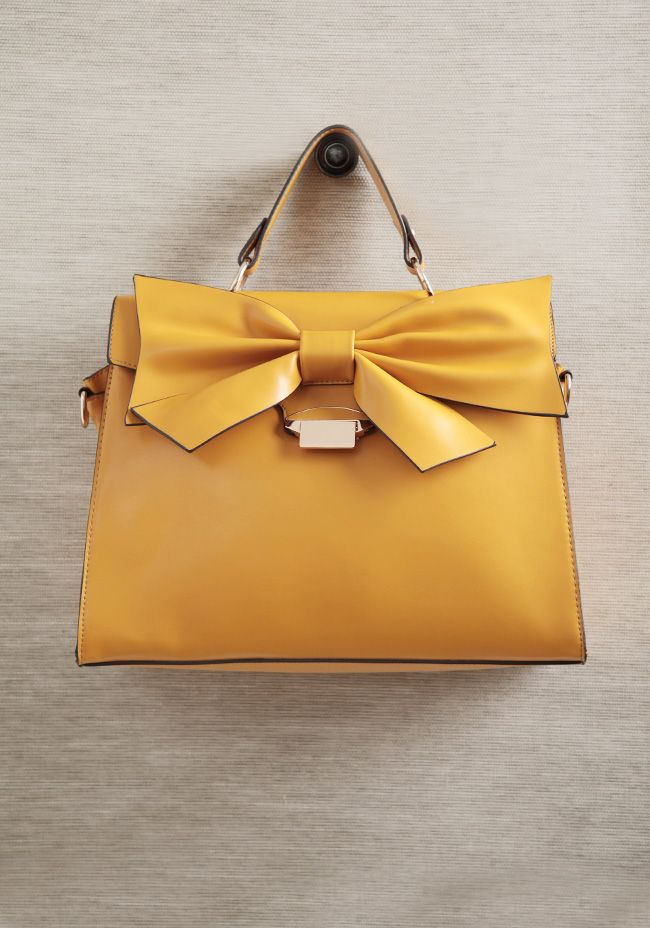 Kingly Bow Structured Purse
